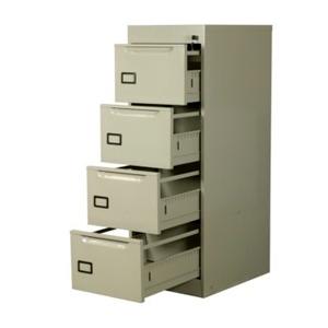 archivero vertical metálico 4 gavetas abierto