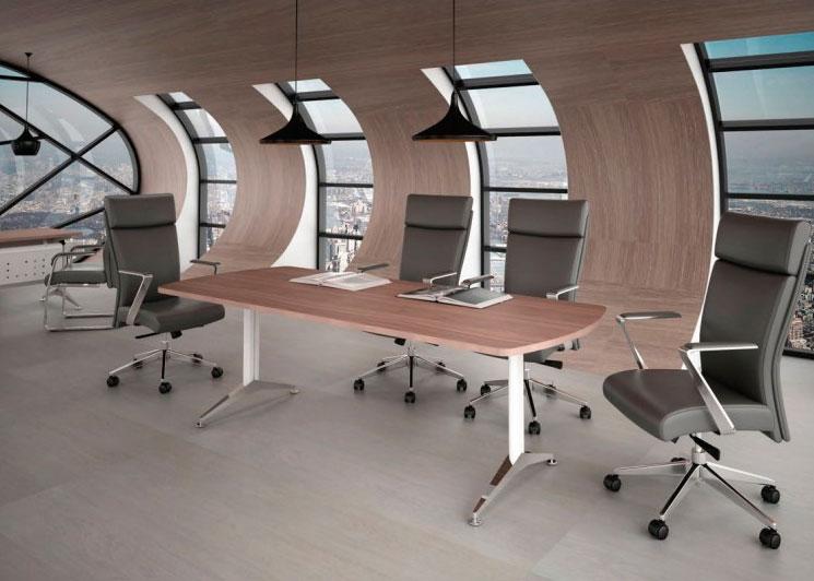 Mesa de juntas W/CHROME - Muebles y Sillas para Oficina AH ...
