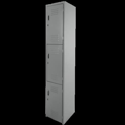 locker 3 puertas gris