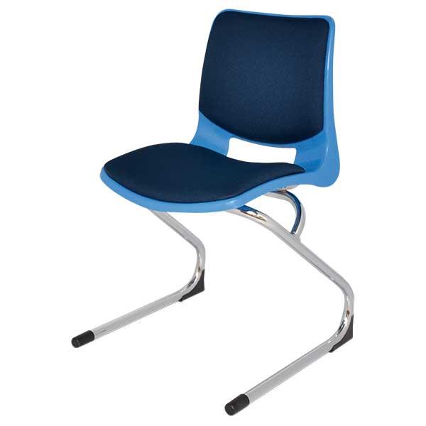 silla bold invertida cromo tapiz
